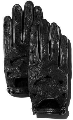 Portolano Embroidered Leather Driver Gloves