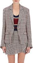 Etoile Isabel Marant Women's Jayden Plaid Linen One-Button Jacket-NUDE