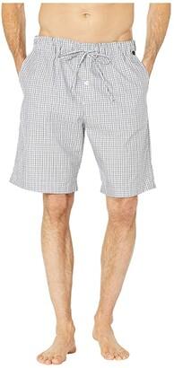 Hanro Night Day Short Woven Pants (Grey Check) Men's Pajama