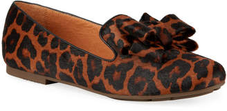 Gentle Souls Eugene Ribbon Bow Leopard Loafers