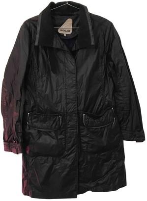 Hogan Black Cotton Coat for Women