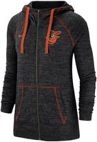 Nike Women's Black Baltimore Orioles Gym Vintage Team Full-Zip Hoodie