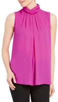Ellen Tracy Solid Sleeveless Shell Top