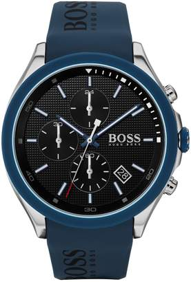 BOSS Velocity Stainless Steel Silicone-Strap Chronograph Watch