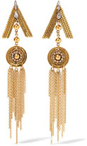 Erickson Beamon Awaken Gold-plated Crystal Earrings - one size