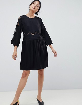 Gestuz Anne Lace Paneled Dress
