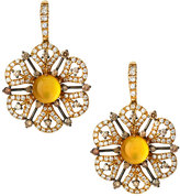 Roberto Coin Spring 18k Citrine & Mixed Diamond Drop Earrings