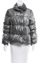 Thomas Wylde Metallic Leather Puffer Coat