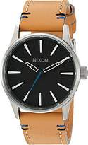 Nixon Men's 'Sentry 38' Quartz Stainless Steel and Leather Watch