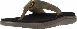 Teva Men Voya Flip Leather Open Back Slippers