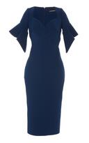 Zac Posen Ruffled Sleeve Cady Midi Dress