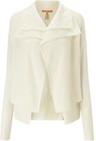 HUGO BOSS BOSS Orange Wijay Double Front Cardigan, Open White