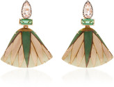 Silvia Furmanovich 18K Gold, Marquetry, Tourmaline and Diamond Earring