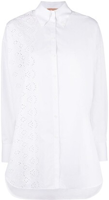 Ermanno Scervino Embroidered-Panel Button-Down Shirt