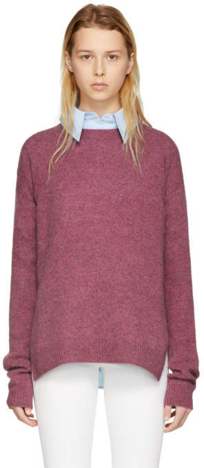 Acne Studios Pink Wool Deniz Sweater