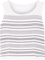 Lemlem Kedame striped cotton-blend gauze top