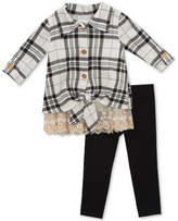 Rare Editions 2-Pc. Plaid Tunic & Leggings Set, Baby Girls