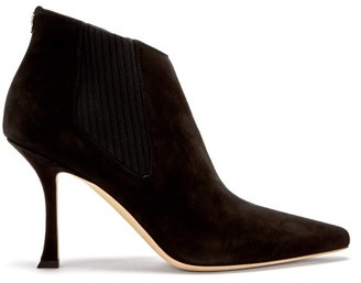 Jimmy Choo Maiara 90 Suede Ankle Boots - Black