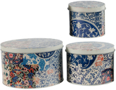 A&B Home Abstract Tin Boxes - Set of Three