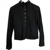 agnès b. Navy Leather Jacket for Women