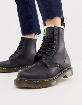 Dr. Martens Serena lined leather ankle boots in black