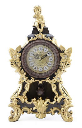 Orient Three Star Table Clock with Angel