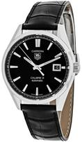 Tag Heuer Carrera WAR211A.FC6180 Men's Black Leather Automatic Watch