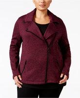 Calvin Klein Plus Size Marled Moto Jacket