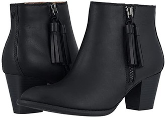 Vionic Madeline (Black Leather) Women's Boots