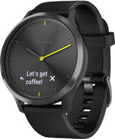 Garmin Unisex vivomove Hr Black Silicone Strap Hybrid Smart Watch 43mm