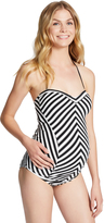 Motherhood Jessica Simpson Striped Maternity Tankini Swimsuit