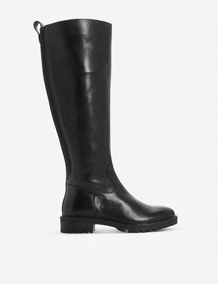 Bertie Tallow leather knee-high boots