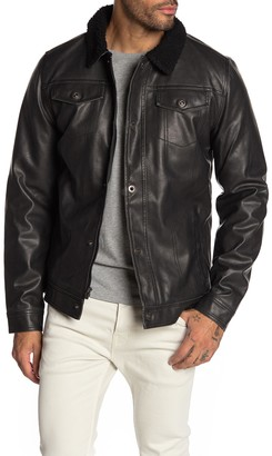 X-Ray Xray Faux Leather & Faux Shearling Jacket