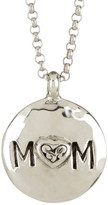 Lois Hill Sterling Silver Reversible Signature Cutout Mom Pendant Necklace
