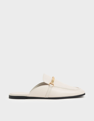 Charles & Keith Metal Accent Slip-On Loafers