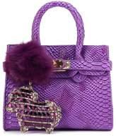 CMK Trendy Kids Colorful Python Grain Kids Crossbody Handbags for Girls With Little Rhinestone Sheep ( bag for girls)