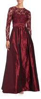 Teri Jon Sequined Lace and Taffeta A-Line Gown