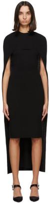 Givenchy Black Wool Cape Dress