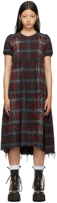 R13 Red Bleached Relaxed Dress