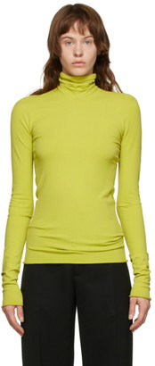 Bottega Veneta Green Viscose Turtleneck