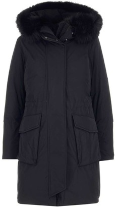 Woolrich Fur Trim Hooded Military Parka
