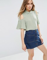 Asos Casual Blouse with Tie Sleeve
