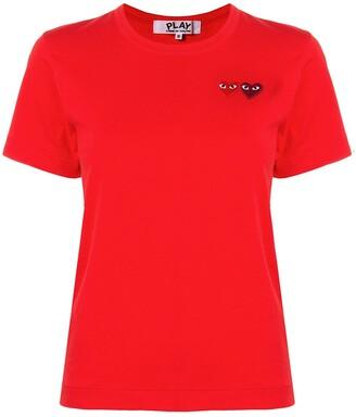 Comme des Garcons logo embroidered crew neck T-shirt