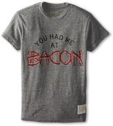 Original Retro Brand The Kids You Had Me At Bacon Short Sleeve Tee (Big Kids)