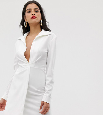ASOS DESIGN Tall sexy drape bodycon shirt dress