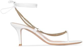 Gianvito Rossi 70 Chain Strap Sandals