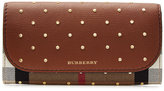 Burberry Embellished Halton Wallet with Leather