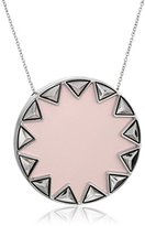 House Of Harlow Sunburst Pyramid Nude Pink Pendant Necklace, 26""