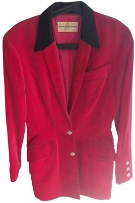 Thierry Mugler \N Red Velvet Jacket for Women Vintage