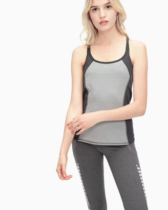 Splendid Yoga Heather Blocked Studio Tank